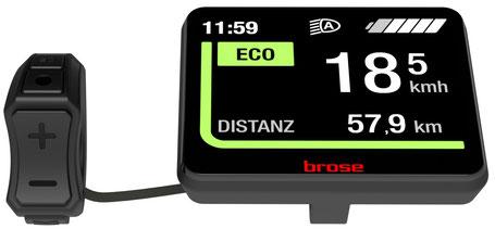Brose präsentiert eigene e-Bike Displays
