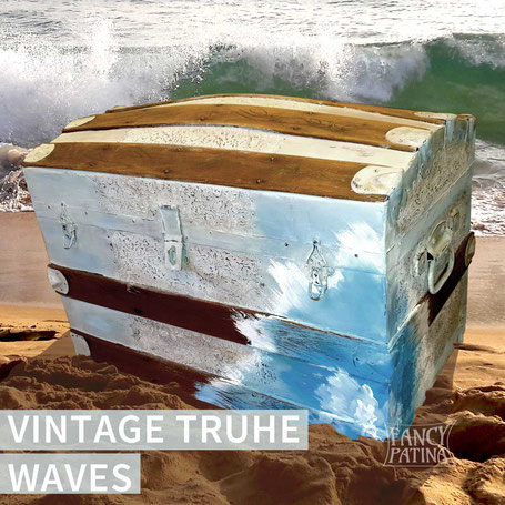 VINTAGE REISETRUHE WAVES