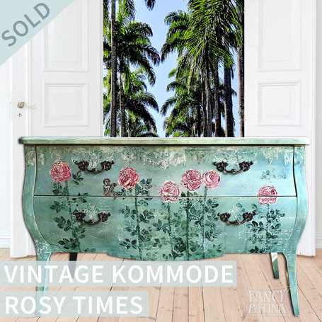 VINTAGE KOMMODE ROSY TIMES