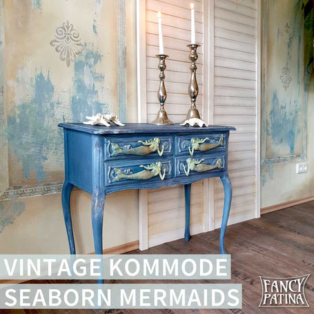 CHIPPENDALE KOMMODE SEABORN MERMAIDS