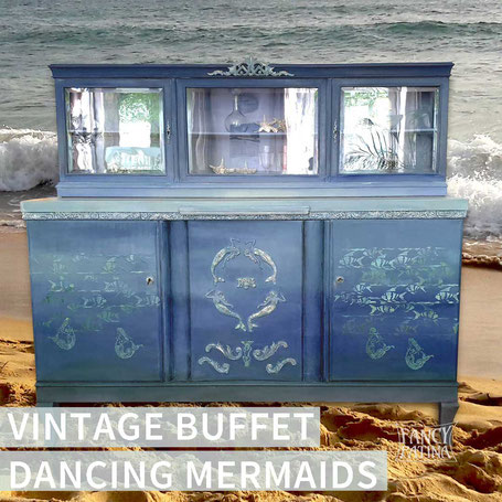 VINTAGE BUFFET DANCING MERMAIDS