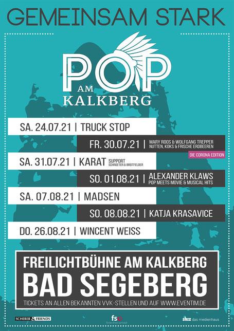 Plakat Pop am Kalkberg 2021