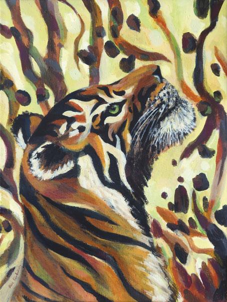 gemalter Tiger