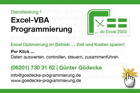 Bild: Visitenkarte Excel-VBA-Programmierung