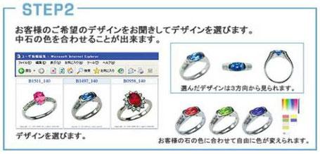 ジュエリーリフォームパソコンでデザインを選ぶ
