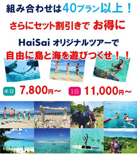 リクエストツアー オリジナルツアー ハイサイ 自由にお得に島と海遊びを満喫