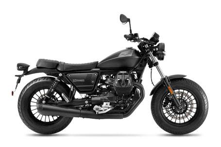Moto Guzzi V9 Bobber 2021 schwarz-grau rechte Ansicht