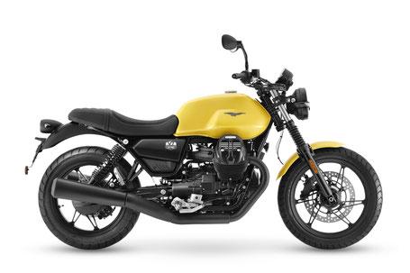 Moto Guzzi V7 Stone orange rechte Seitenansicht