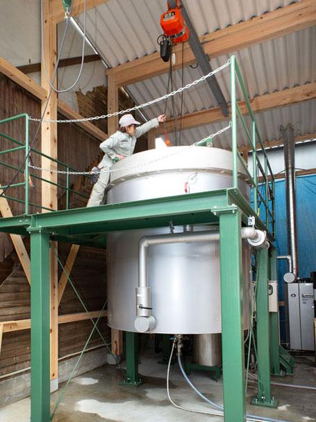 水蒸気蒸留法 精油抽出機