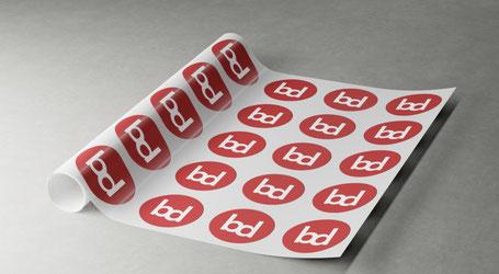 Aufkleber, Etiketten und Sticker professionell herstellen bei betterdigital