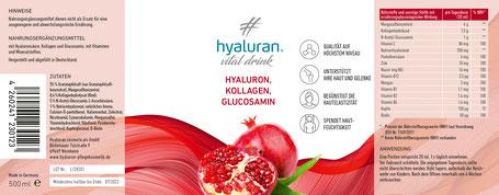 Hyaluron Kollagen N-Acethylglucosamin Drink