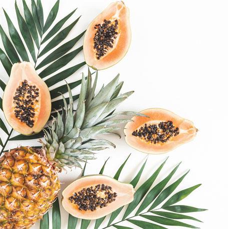 Papaya und Ananas