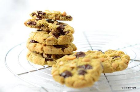 glutenfreie und vegane Backmischung für Salted Peanut Cookies, laktosefrei, weizenfrei