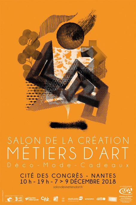 Exposition au Salon de la création Métiers d'art de Nantes en décembre 2018