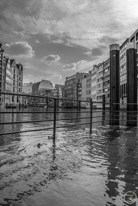 Hamburg Flut Fleeth Unterwasser  Deutschland Heimat Fototour
