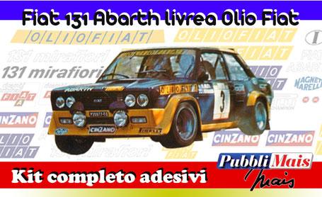 fiat 131 abarth alitalia kit sticker adhesive decal