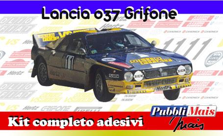 lancia rally 037 sanremo 84 grifone olio fiat tabaton tedeschini kit sticker adhesive decal