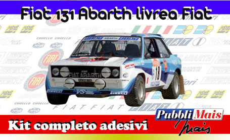 fiat 131 abarth blue kit sticker adhesive decal