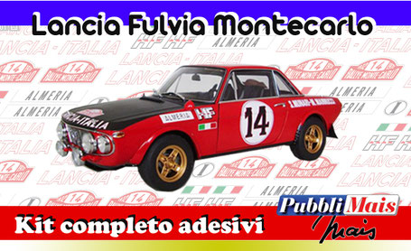 lancia fulvia montecarlo 1972 kit stickers adhesive decal