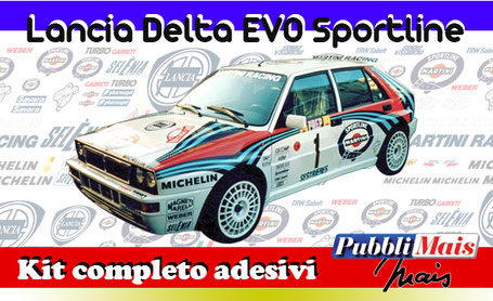 lancia delta integrale hf evo evolution martini sportline edition kit sticker adhesive decal