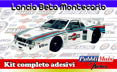 lancia beta montecarlo turbo martini racing kit sticker adhesive decal