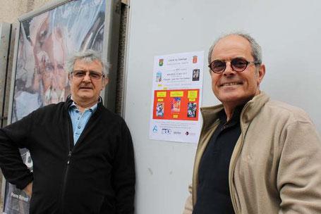 Jean-François Garric  (à droite) et Bernard Duranteau donnent l'impulsion  à la nouvelle édition de Espagne joue-moi ton cinéma. Photo MM.