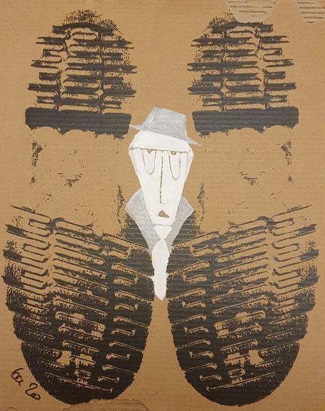 Doc Martens Schuhkarton wird zum Kunstwerk Cardboard Art