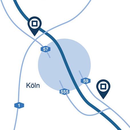 Blaue Boxen Self Storage Köln- Günstigen Lagerraum mieten