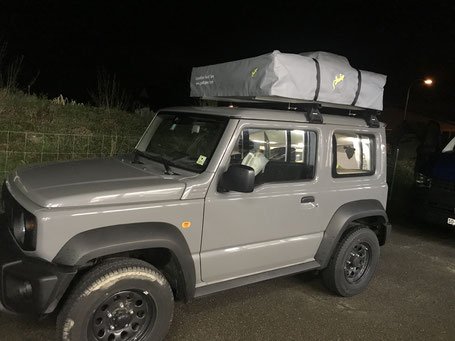 Dachzelt Gordigear auf dem neuen Suzuki Jimny