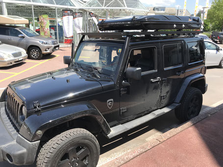 Dachzelt James Baroud Evasion auf Jeep / Black Edition