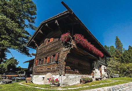 Das Nutli Hüschi ein altes Bauernhaus aus dem 16. Jahrhundert.