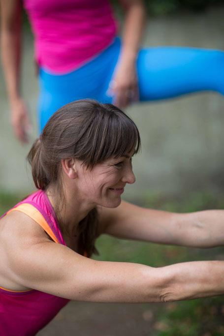 Kirsten Scholz-Personal Trainerin-beim Training-für Gesundheit und Fitness