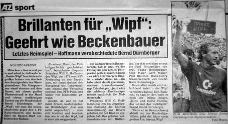 Bernd Duernberger geehrt wie Beckenbauer