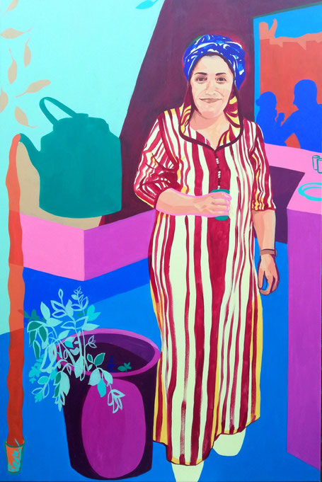 Femme Marocian VI - 2019 - 80x120 cm, acryl op doek