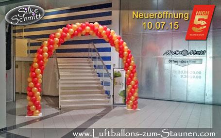 Luftballon Ballon Bogen Dekoration Firmenevent Neueröffnung High 5 McFit Würzburg Firma
