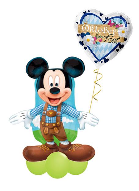 Ballon Folienballon Heliumballon Oktoberfest Mickey Minnie Mouse Dirndl Lederhose Heliumballon Versand Deko Dekoration Party Feier