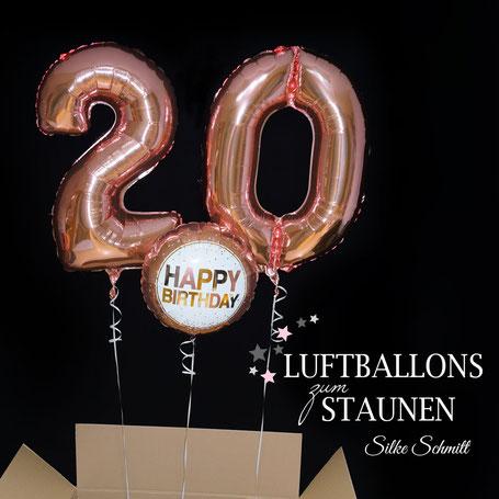Versand in der Box Ballon Luftballon Folienballon Heliumballon Ballonzahl Zahlenballon 20 30 40 50 60 70 80 90 10 rosegold Happy Birthday Geburtstag Geburtstagsüberraschung Party Mitbringsel Deko Dekoration Tischdekoration Feier Überraschungsparty runder