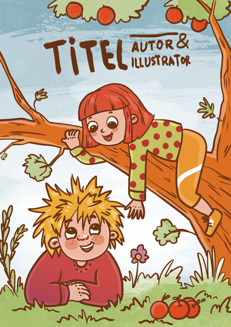 Maike Kliche Kinderbuchillustration Junge Mädchen illustriert