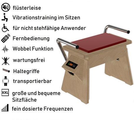 Vibrationsplatte Galileo Chair, Vibrationstrainer im Sitzen, Galileo Stuhl, gebraucht, kaufen, Preise, Preis, Test, Vertrieb: www.kaiserpower.com