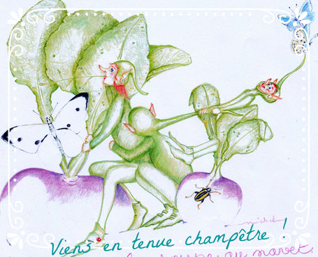 Tenue champêtre exigée  sinon tas un gage ! Chapeau de paille, salopette, chemise/robe à fleurs...