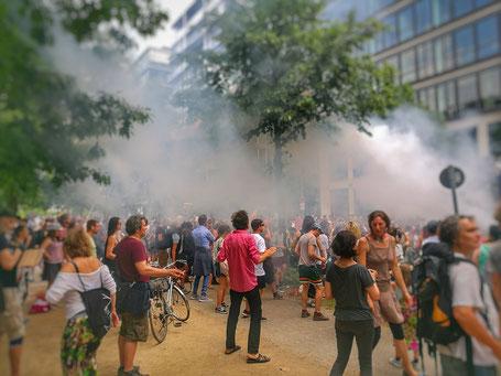 Raven tegen racisme: voor vele jongeren is het Berlijn ten voeten uit. © Peter Bijl