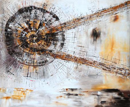 Kunstpreis Airleben 2016, Wellensender Arcyl auf Leinwand