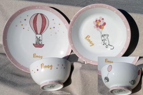 porcelaine personnalisée naissance