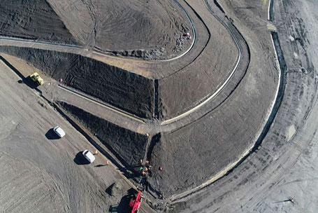 Novafly, entreprise spécialisée en imagerie et topographie aérienne, levés de terrains, calcul de cubatures, modélisation 3D, orthophotos, assure par drone le suivi de chantiers de dépolution dans le sud-ouest de la france