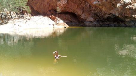 Ce qu'il reste d'eau de ce magnifique canyon