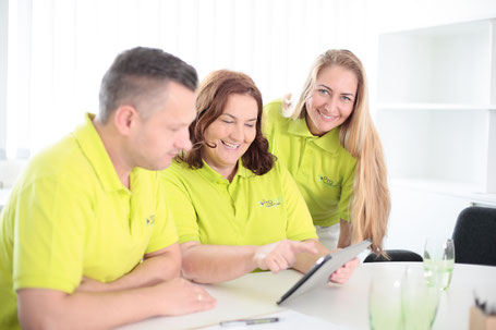 Pflege Team besprechung in Freiberg