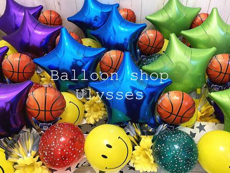 バスケ部 ミニバス バスケットボール バルーンギフト 卒団 卒部 バルーンアレンジ