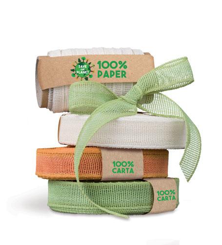 umweltfreundliches Geschenkband aus recycelbarem Papier