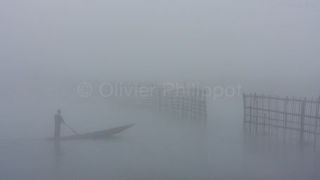Ombres birmanes - Lac Inle - Birmanie © Olivier Philippot Photo