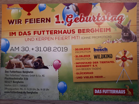 1. Geburtstag Futterhaus Bergheim, Foto: Linke